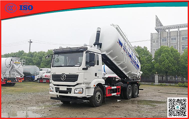 陕汽德龙22方举升式干混砂浆运输车