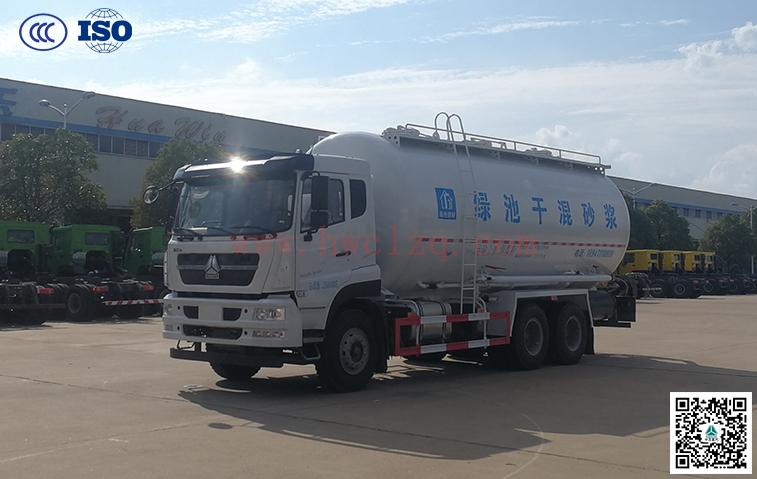 千亿国际客户端310马力25方干混砂浆运输车