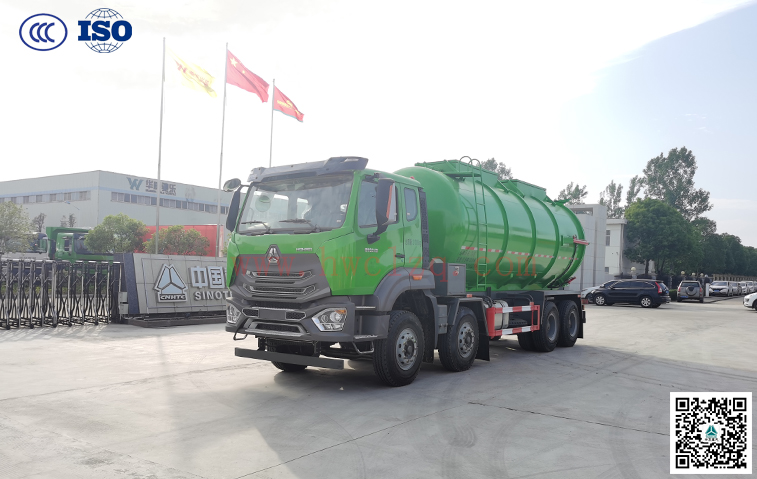 千亿国际客户端豪瀚24方罐式污泥运输车